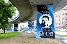 """100 Jahre Otto Siffling""-Graffiti"