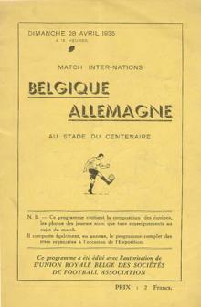 Belgien - Deutschland / Programmheft