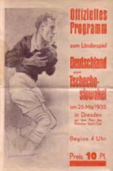 Deutschland - Tschechoslowakei / Programmheft