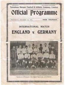 England - Deutschland / Programmheft