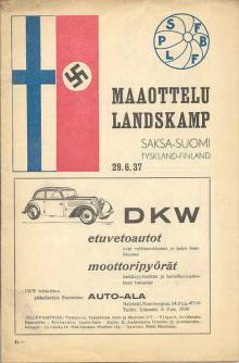Finnland - Deutschland / Programmheft