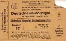 Deutschland - Portugal / Eintrittskarte