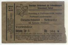 Deutschland - Schweiz / Eintrittskarte