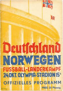 Deutschland - Norwegen / Programmheft