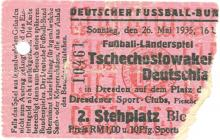 Deutschland - Tschechoslowakei / Eintrittskarte