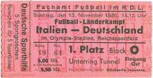 Deutschland - Italien / Eintrittskarte