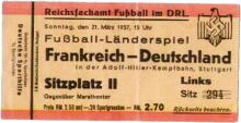 Deutschland - Frankreich / Eintrittskarte