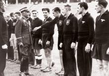 Offizielle Begrüßung durch den Reichssportführer