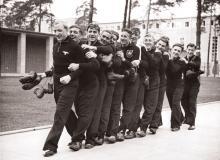 Die Nationalmannschaft beim Training