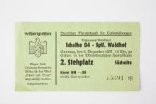 Schalke 04 - SV Waldhof / Eintrittskarte