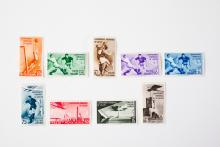 Amtliche Briefmarken zur Weltmeisterschaft in Italien 1934