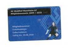 SV Waldhof Mannheim 07 e.V. Mitgliedsausweis 2009/10