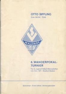 Otto Siffling Turnier / Programmheft