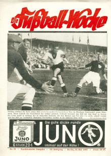 Fußball Woche Norddeutsche Ausgabe 21/1937