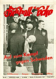 Die Fußball Woche - Brandenburgische Ausgabe 47/1937